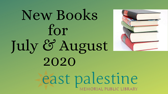 New Books for July & August 2020 with stack of books